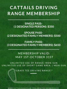 Cattails Driving range membership