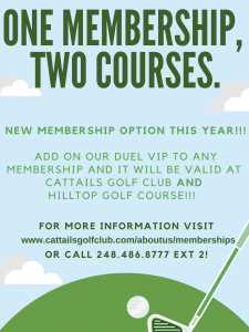 one membership, two courses.